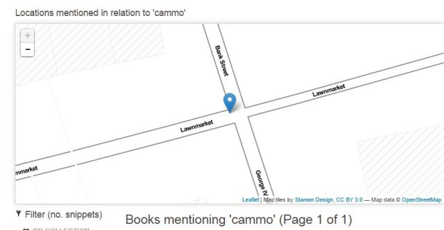 database search map - not Cammo!